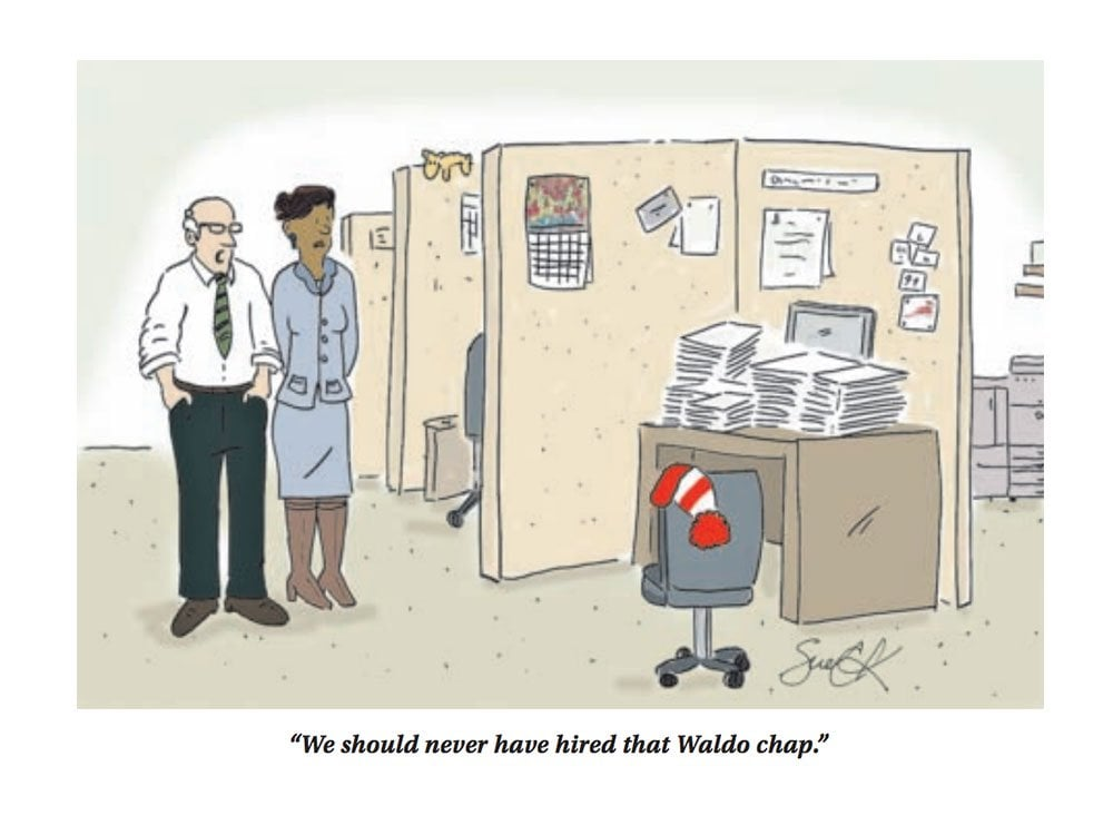 Waldo at work…