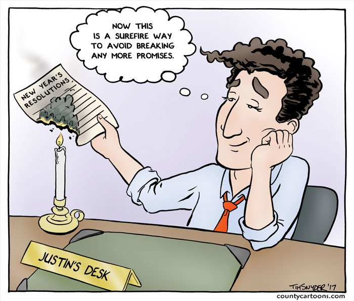 Justin Trudeau New Year's Resolutions…