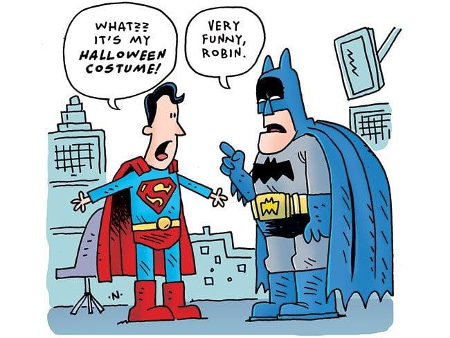Wrong Superhero Costume for Halloween