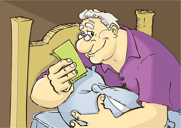 A nice man, with his cash under his pillow. AI file included.