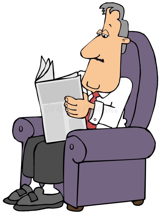 man-reading-newspaper-sitting-easy-chair-illustration-148713482