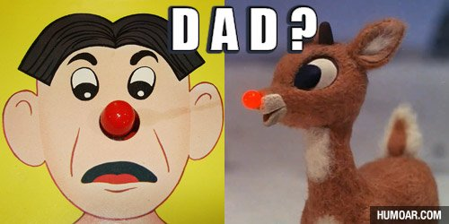 Rudolph meets his Dad…