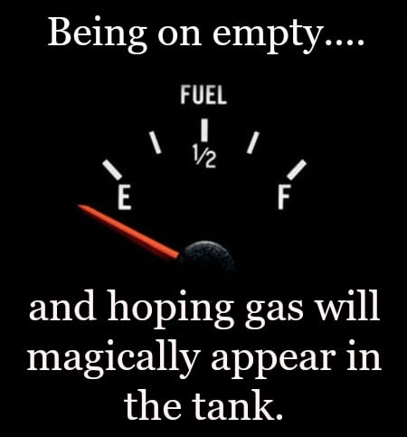 Running out of fuel…